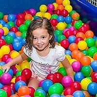 Kidsbay 50 Colourful Pool and Pit Soft Balls - 8 cm Diameter Similar Size Cricket Ball