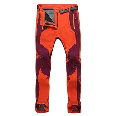 YiLianDa Pantaloni Funzionali Softshell Invernali da Uomo Slim Fit  Impermeabili e Traspiranti per Trekking e Sport all aperto  Amazon.it   Abbigliamento 3be0d15597b