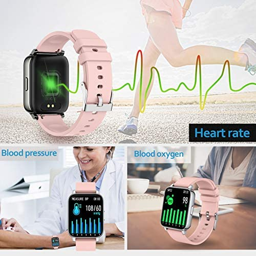 Rogbid Rowatch 2 Smart Watch for Women 1.69'' Full Touch Screen Fitness Activity Tracker Smart Watch IP68 Waterproof smartwatch Heart Rate Blood Oxygen Monitor Sleep Monitor for Android iOS (Pink) 4