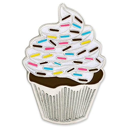 PinMart PinMart's Cute Birthday Cupcake Celebration Trendy Dessert Enamel Lapel Pin