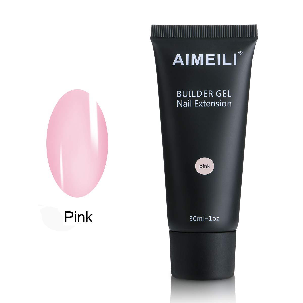 AIMEILI Clear Builder Gel 30ml 1oz Nail Enhancement Nail Extension Tool