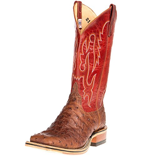 NRS Anderson Bean Mens Ride Ready Kango FQ 13in Red Goat Top Cowboy Boot Brown