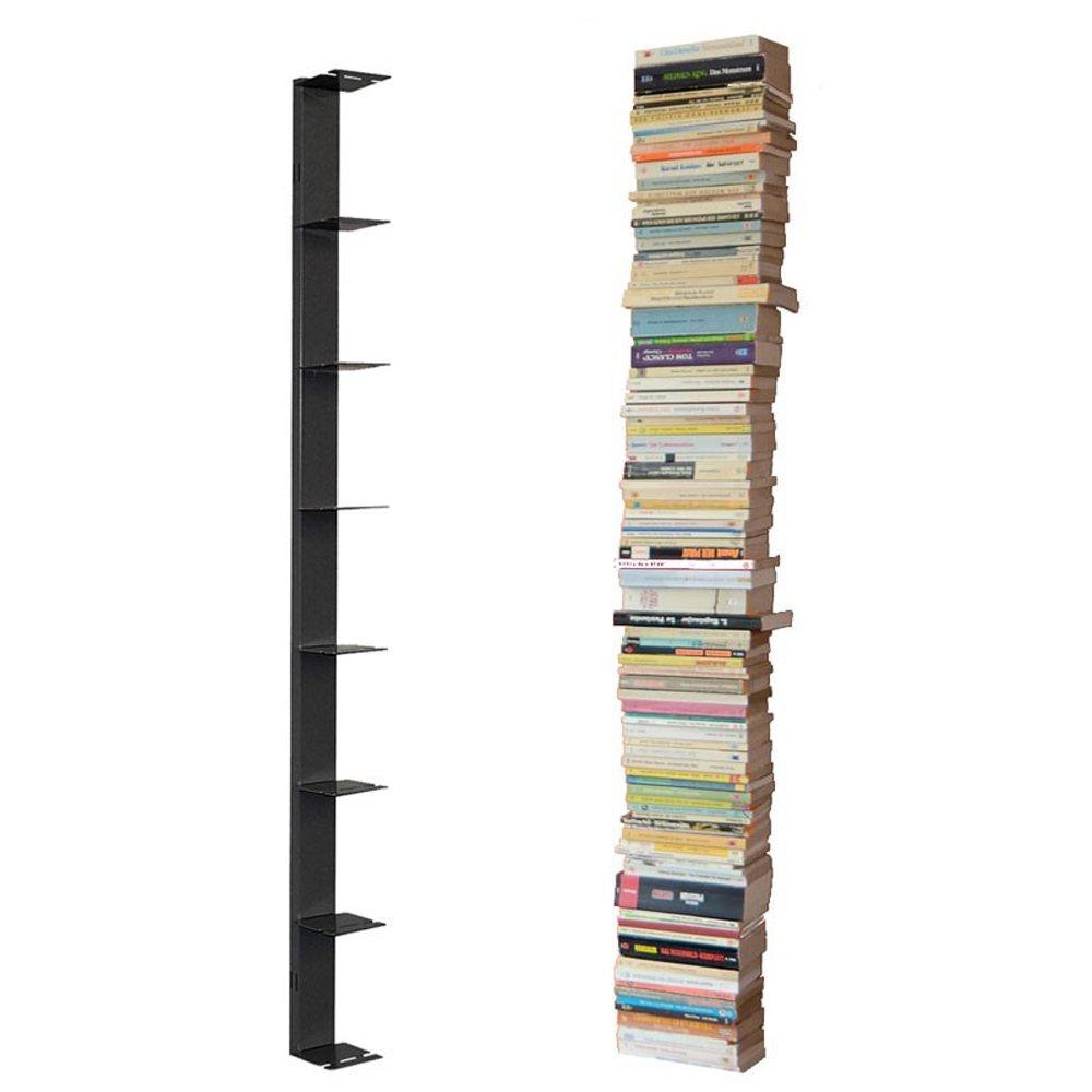 Radius Design booksbaum Single Wand Gross Schwarz,  2tlg. Best.aus  Schwarz, Halterung + Einlegeböden [W] c1cf30