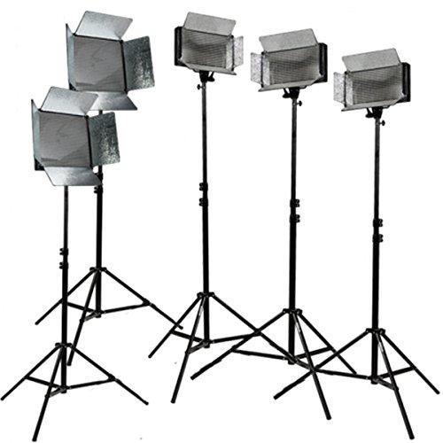 ikan CHR3521-V2 | Light Kit 2x ID1000-V2 2x Stand Bags 2x Utility Light Bag 3x ID500-V2 5x AC Power Supply 5x Light Stands ID500 Light Kit Bag