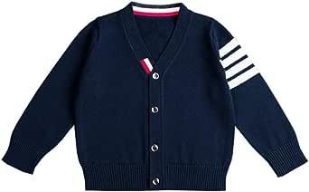 Lazzon Cárdigan Suéter de Punto Chaqueta para Bebés Niña Niño Cuello V Tops Jersey Ropa de Abrigo Invierno