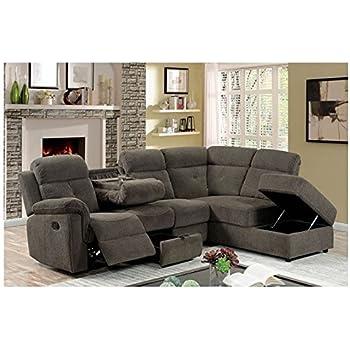 Amazon Com Avia Sectional Reclining Sofa W Drop Down
