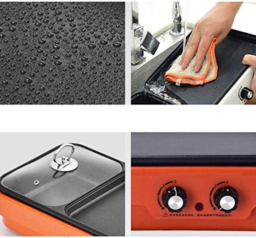 Grills électriques, Hot Pot Barbecue multifonctions intégré Poêle à frire électrique antiadhésive sans fumée pour l'intérieur Barbecue polyvalent pour barbecue en plein air