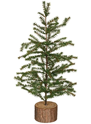 Artificial Spruce Trees (Sullivans Small Artificial Pine Tree with Tree Stump Base (18
