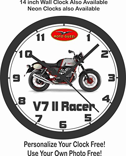 2016 MOTO GUZZI V7 II RACER MOTORCYCLE WALL CLOCK-FREE USA