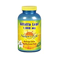 Natures Life® Alfalfa Leaf Tablets 1000mg | Vitamin Rich Green Superfood | Non-GMO