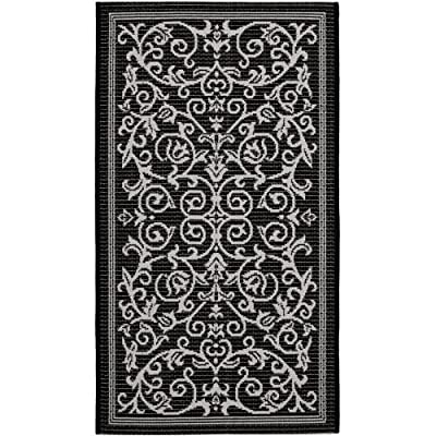 Safavieh Courtyard Collection CY2098-3707 Red and Natural Indoor/Outdoor Area Rug