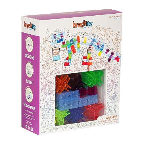 Brackitz BKT-112 Inventor 100 Piece Set: Educational Construction Set - Learning Toys & Building Blocks for Kids