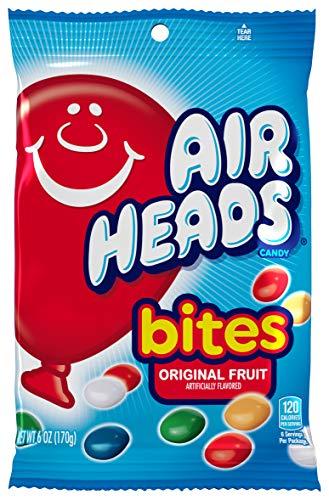 AirHeads Bites Candy Peg Bag, Fruit, Non Melting, 6 Ounce (Bulk Pack of 12) ()