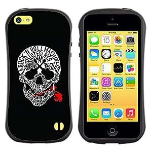 Suave TPU GEL Carcasa Funda Silicona Blando Estuche Caso de protección (para) Apple Iphone 5C / CECELL Phone case / / Skull Red Blood Rock Roll Guitar Music /