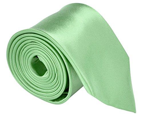 Neckties For Men 3.5 Microfiber Woven Satin Neck Ties For Men Solid Color - Aqua Green - Ties Discount Neckties
