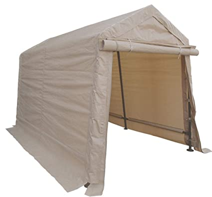 Amazon.com: 6x8 Portable Storage Shed Garage Motorcycle Cover Tool Lawnmower  Shed Tan: Home Improvement