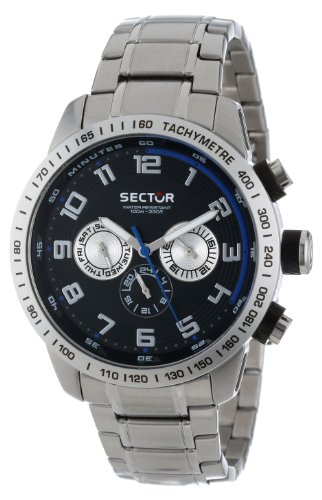 Sector Men's R3253575002 Racing Analog Stainless Steel Watch with Triple-Link Bracelet