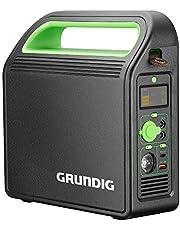 GRUNDIG Draagbaar powerstation, 324 Wh/90000 mAh 220 V accugenerator, mobiel energiestation met AC/2 USB/3 DC-poort/autoladeruitgangen, zonne-energie-generator voor outdoor, camping, noodgevallen, back-up