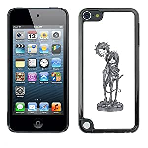 Planetar® ( Cool Band Music Art Character Sketch ) Apple iPod Touch 5 Fundas Cover Cubre Hard Case Cover