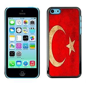 - Turkish flag - - Monedero pared Design Premium cuero del tir¨®n magn¨¦tico delgado del caso de la cubierta pata de ca FOR Apple iPhone 5C Funny House