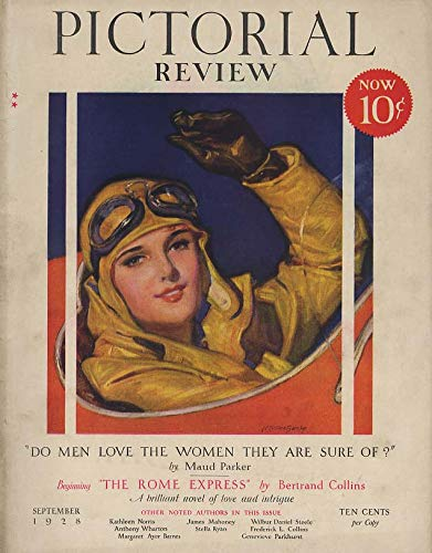 Mcclelland Frog - PICTORIAL REVIEW COVER 1928 Aviatrix by McClelland Barclay