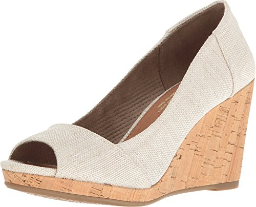 TOMS Women's Stella Wedge Natural Yarn-Dye 12 B US B (M)