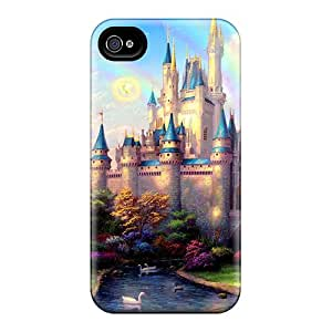 Awesome New Day At Cinderella's Castle Flip Case With Fashion Design For Iphone 4/4s