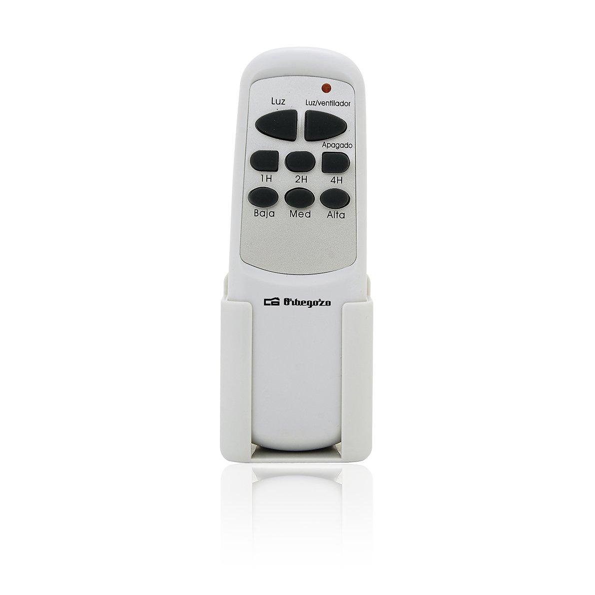 Orbegozo CP 91120 Ventilador de Techo con Mando a Distancia, Plateado