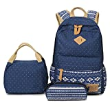 School-Backpack-Aiduy-Student-Canvas-Bookbag-Lightweight-Laptop-Bag-with-Shoulder-Bags-and-Pen-Case-for-Teen-B