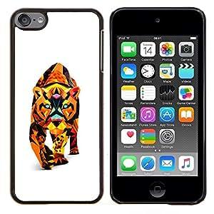 LECELL--Funda protectora / Cubierta / Piel For Apple iPod Touch 6 6th Touch6 -- Polígono Triángulo colorido Cat Puma Puma León --