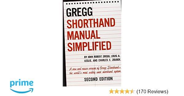 The Gregg Shorthand Manual Simplified John R Gregg Louis A