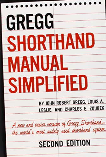 (The GREGG Shorthand Manual Simplified)
