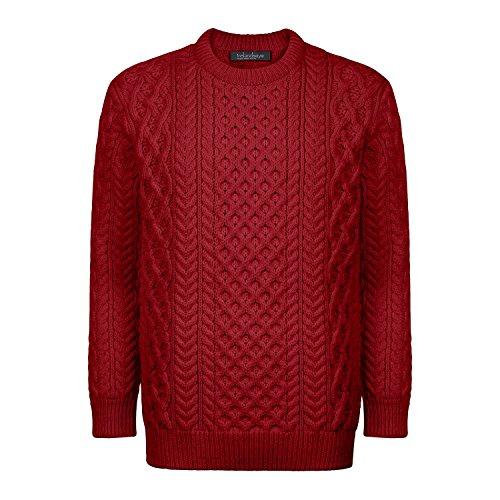 100% Irish Merino Wool Honeycomb Blasket Unisex Aran Sweater by Ireland's Eye by The Irish Store - Irish Gifts from Ireland