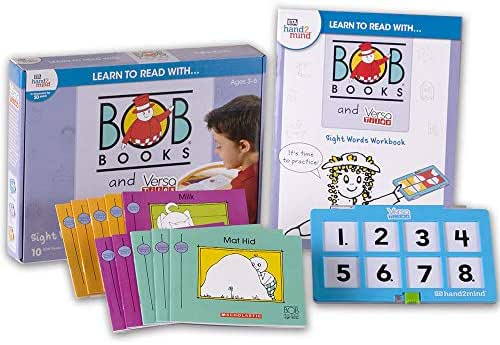Learn to Read with… Bob Books and VersaTiles - Sight Words Set with 10 Bob Books, Answer Case, and Workbook (Ages 3-6) | Level 1 Reading Books for Children