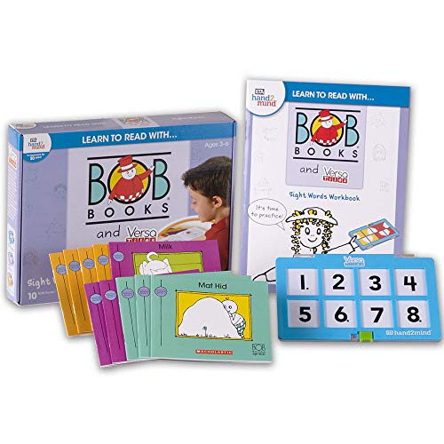 Learn to Read with Bob Books and VersaTiles - Sight Words Set for Kids (Ages 3+) | Learning to Read Educational Sight Words Game | Level 1 Phonics Reading Books for Children with Workbook