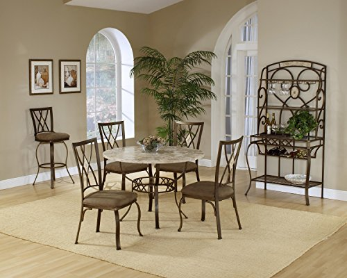 5 Piece Round Dinette Set with Diamond Back Chairs (Round Dinette)