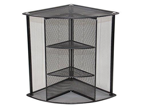 EasyPAG Mesh Collection Desk Corner Organizer Black (Dividers Shelf File)