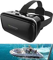 最新進化型VRゴーグル VRヘッドセット ピント調整可能 メガネ対応 4.0~6.5インチのiPhone/andoridで使える ブラック