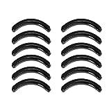 Mudder 12 Pieces Eyelash Curler Pads Eyelash Curler Refills Replacement, 2 Sizes, Black