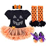 TANZKY Baby Girl Halloween Costumes Tutu Dress Outfits Newborn Infant Romper Set