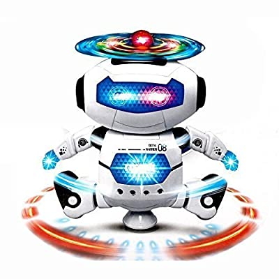 GordVE SJB60 Kids Smart Space Robot Electronic Walking Dancing Robot Astronaut Music Light Toy