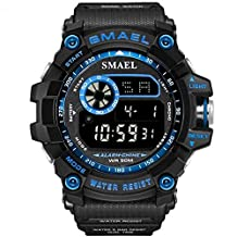 SMAEL Outdoor Sports Watches for Men Digital Watch Men's Electronic Military Clock Male Big Dial Fashion Watch Relogio Masculino