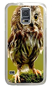 Baby Owl Custom Samsung Galaxy S5 Case Back Cover, Snap-on Shell Case Polycarbonate PC Plastic Hard Case Transparent