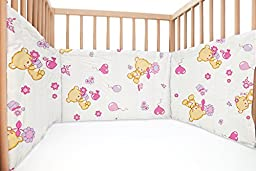 Baby Bears / SoulBedroom Cotton Cot Bumper Pad Half (210x40 cm)