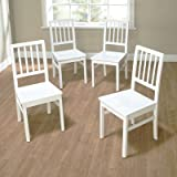 White Dining Chairs TMS Camden Dining Chair, White Wash, Set of 4