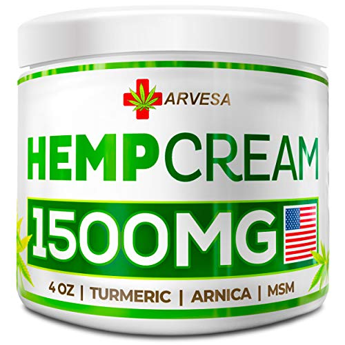 Flex Power Pain Relief Cream - Hemp Pain Relief Cream - 1500MG - 4 OZ - Made in USA - Lower Back, Neck, Joint, Knee, Muscle Inflammation - All-Natural Hemp Extract - with Emu Oil, Arnica, MSM, Turmeric