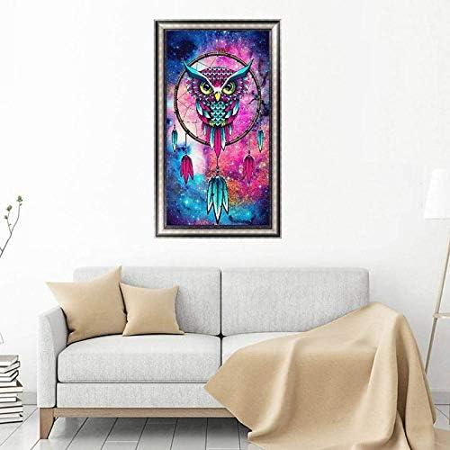 Outflower Diamond Painting Bricolaje 5D Pintura Diamante B/úho Cazador de Sue/ños Conjuntos de Punto de Cruz Decoraci/ón Manualidades del Hogar