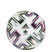 adidas UNIFO TRN Balón de Fútbol, Men's, White/Black/Signal Green/Bright Cyan, 5