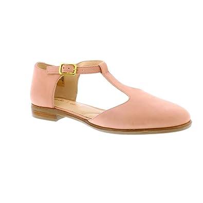 Clarks Zapatos de Cordones de Piel para Mujer Rosa Rosa