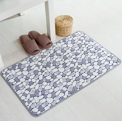 Pebble Floor Mat Rug Door Carpet Bath Home Indoor Shower Mats Bedroom Kitchen Room